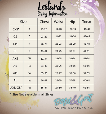 leotards sizing