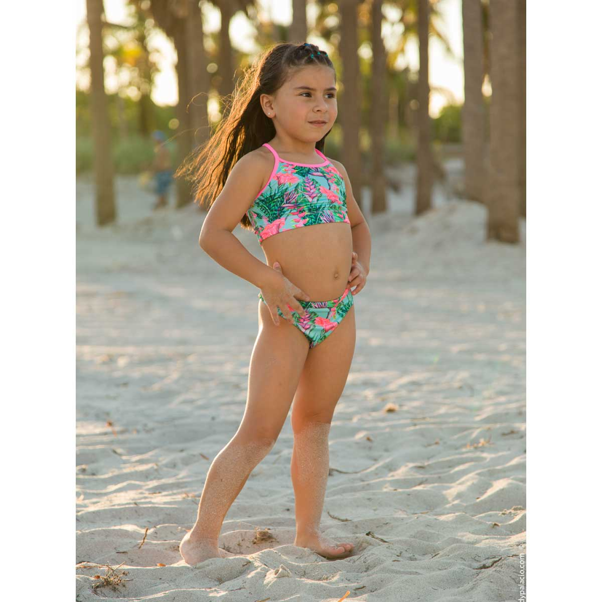 ENERGY - TROPICAL FLOWERS TWO PIECE SWIMSUIT