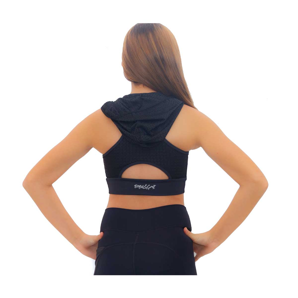 GIRL'S BELIEVE HOODIE SPORTS BRA