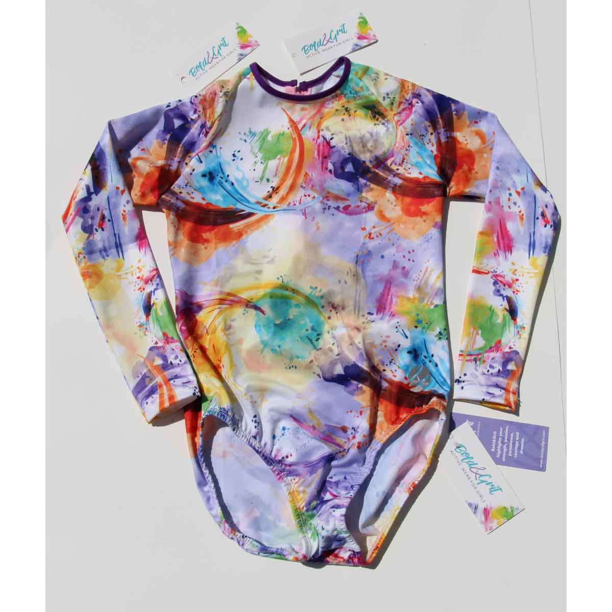 MULTICOLORED LONG SLEEVE SWIMSUIT