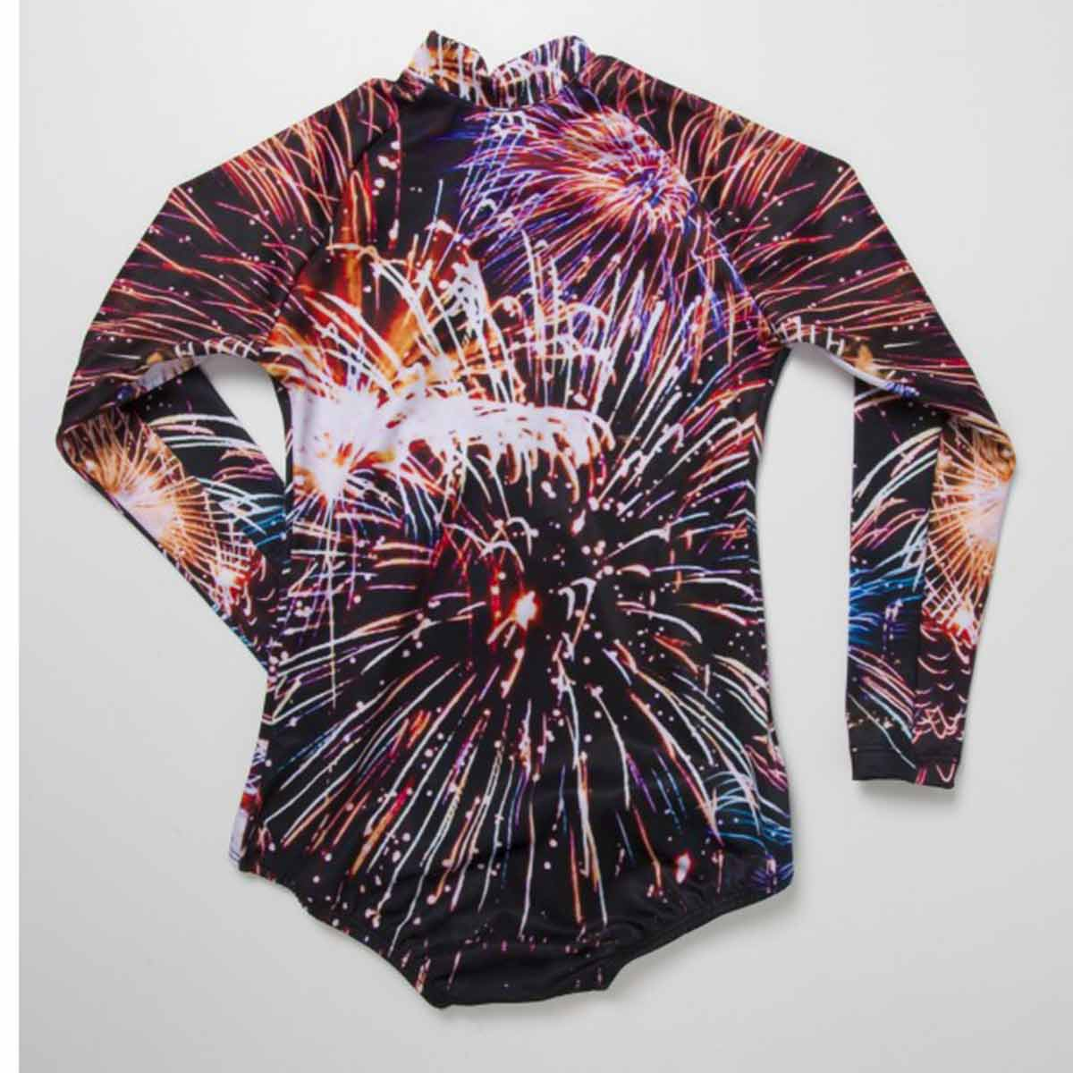 FIREWORKS LONG SLEEVE SWIMSUIT
