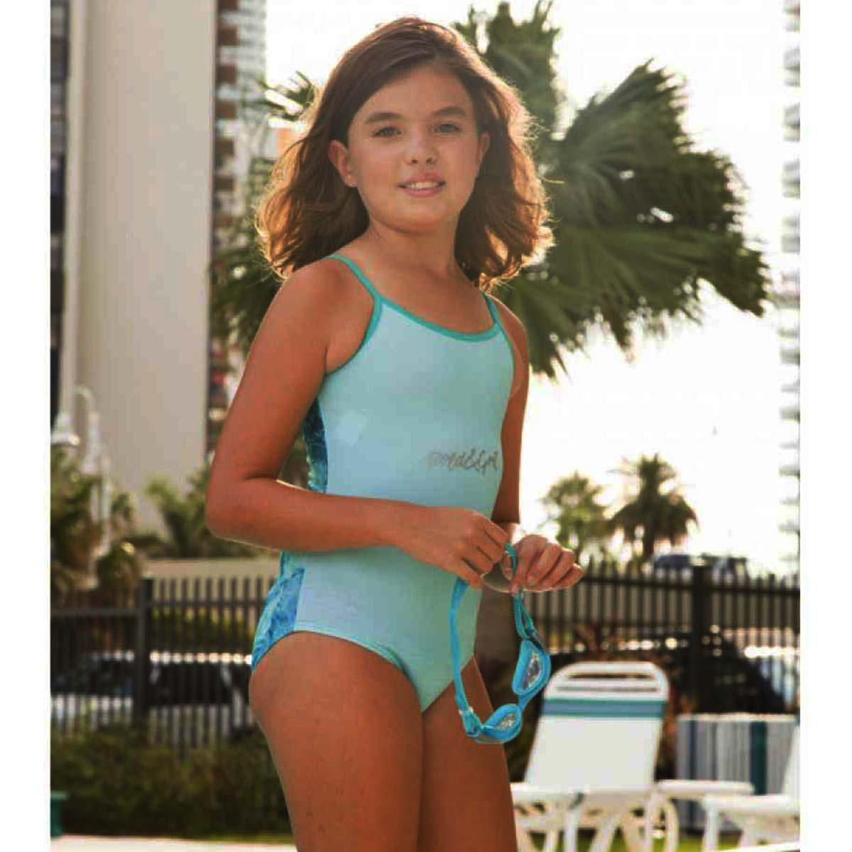 BLUE WATER ONE PIECE SWIMSUIT