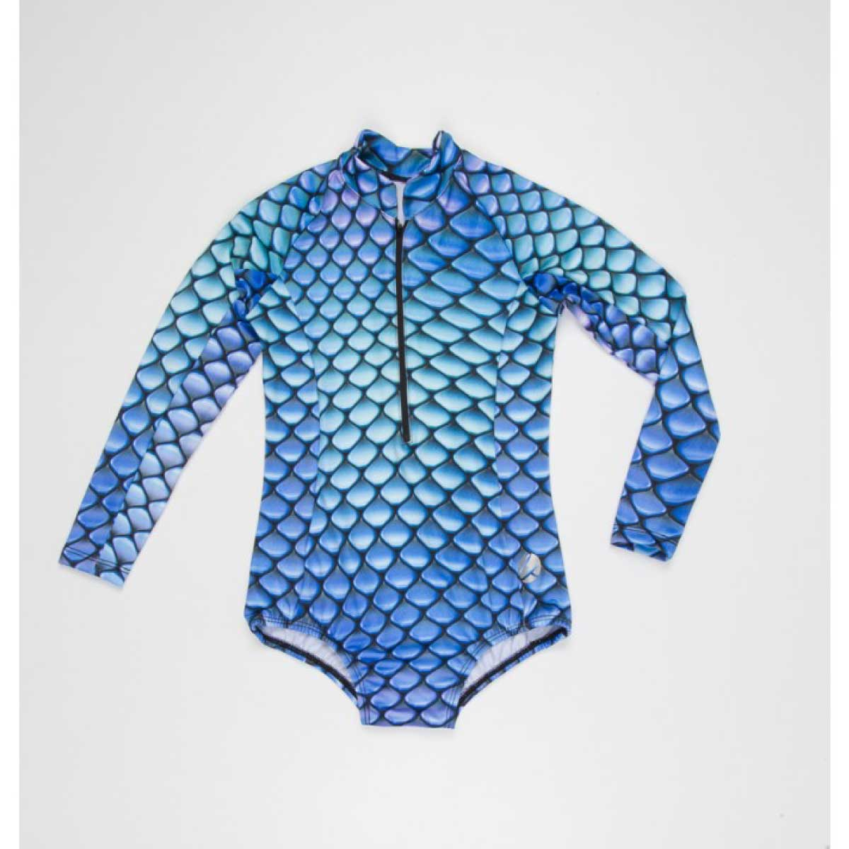BLUE FLAKES LONG SLEEVE SWIMSUIT