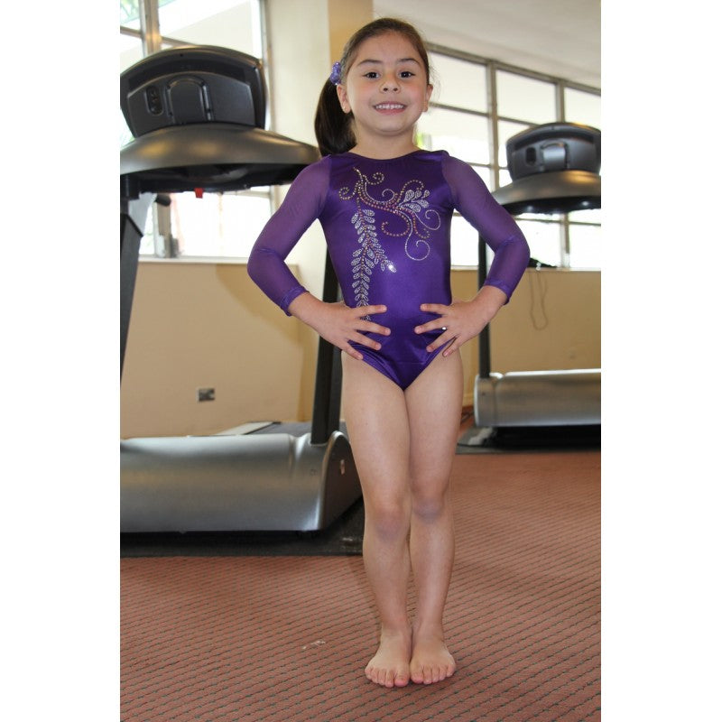 HOPE - LONG SLEEVE VIOLET LEOTARD