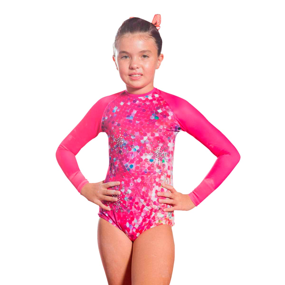 PINK ROCKS - LONG SLEEVE SWIMSUIT