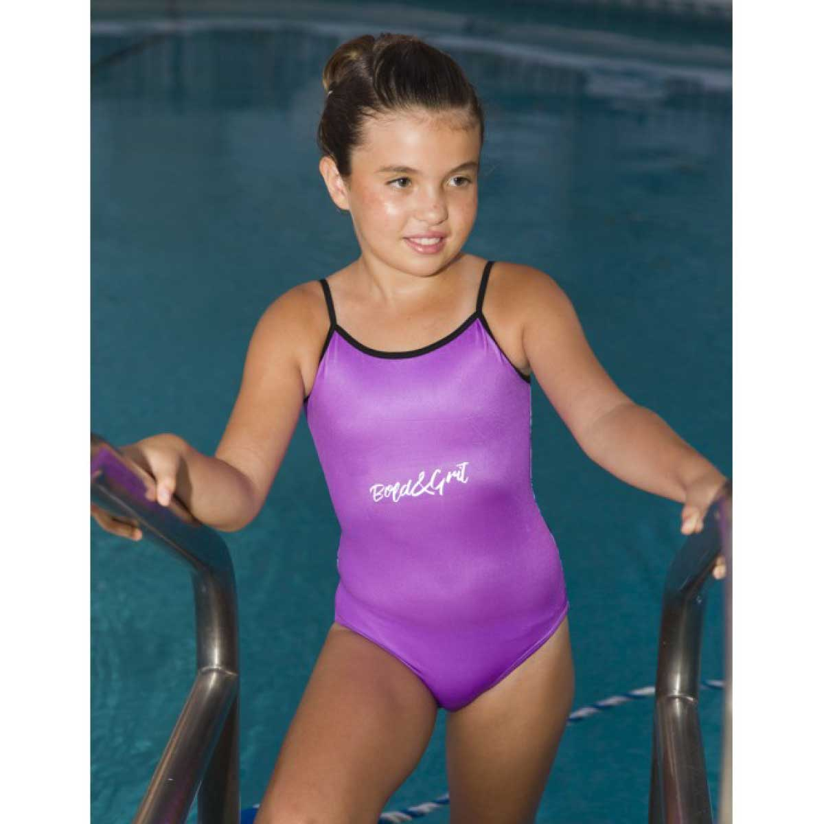 VIOLET FLOWERS ONE PIECE SWIMSUIT