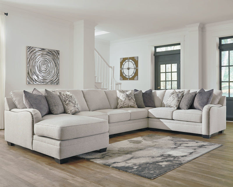 Dellara Benchcraft 5-Piece Sectional with Chaise