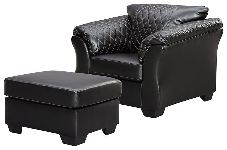 Betrillo Signature Design 2-Piece Chair & Ottoman Set