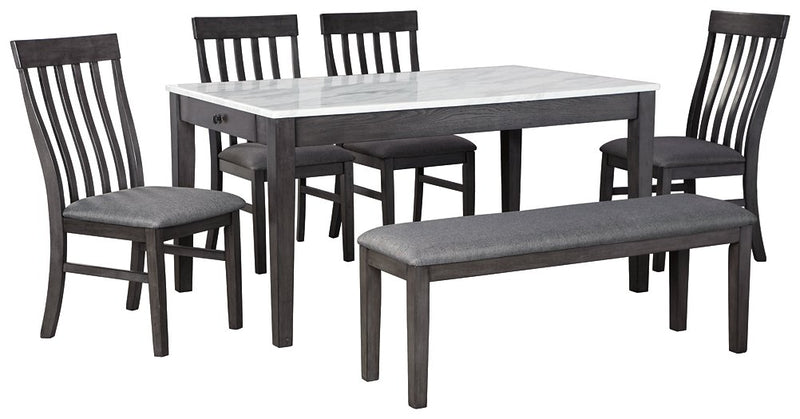 Luvoni Benchcraft 6-Piece Dining Room Package