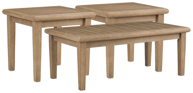 Gerianne Signature Design By Ashley 3-Piece Outdoor Occasional Table Set