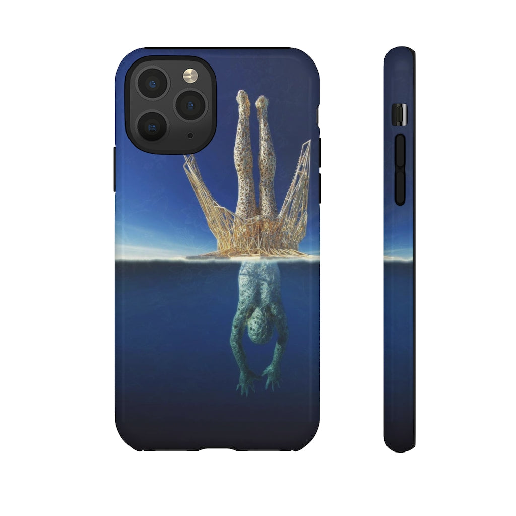 TWO SIDES TO The Story Abstract Art Tough Phone Case
