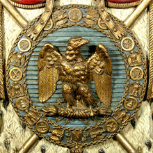 Load image into Gallery viewer, A 19th Century Polychrome and Gilt Wood Napoleonic Coat of Arms, Second Empire (1852-70)
