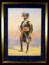Load image into Gallery viewer, Indian Officer of 11th King Edward's Own Lancers (Probyn's Horse) by Major A.C. Lovett, cCirca 1910