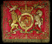 Load image into Gallery viewer, A George III Royal Horse Guards Fanfare Trumpet Banner, Circa 1816