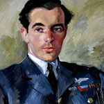 Load image into Gallery viewer, Squadron Leader Hugh Scott, R.A.F.V.R., D.F.C., Croix de Guerre