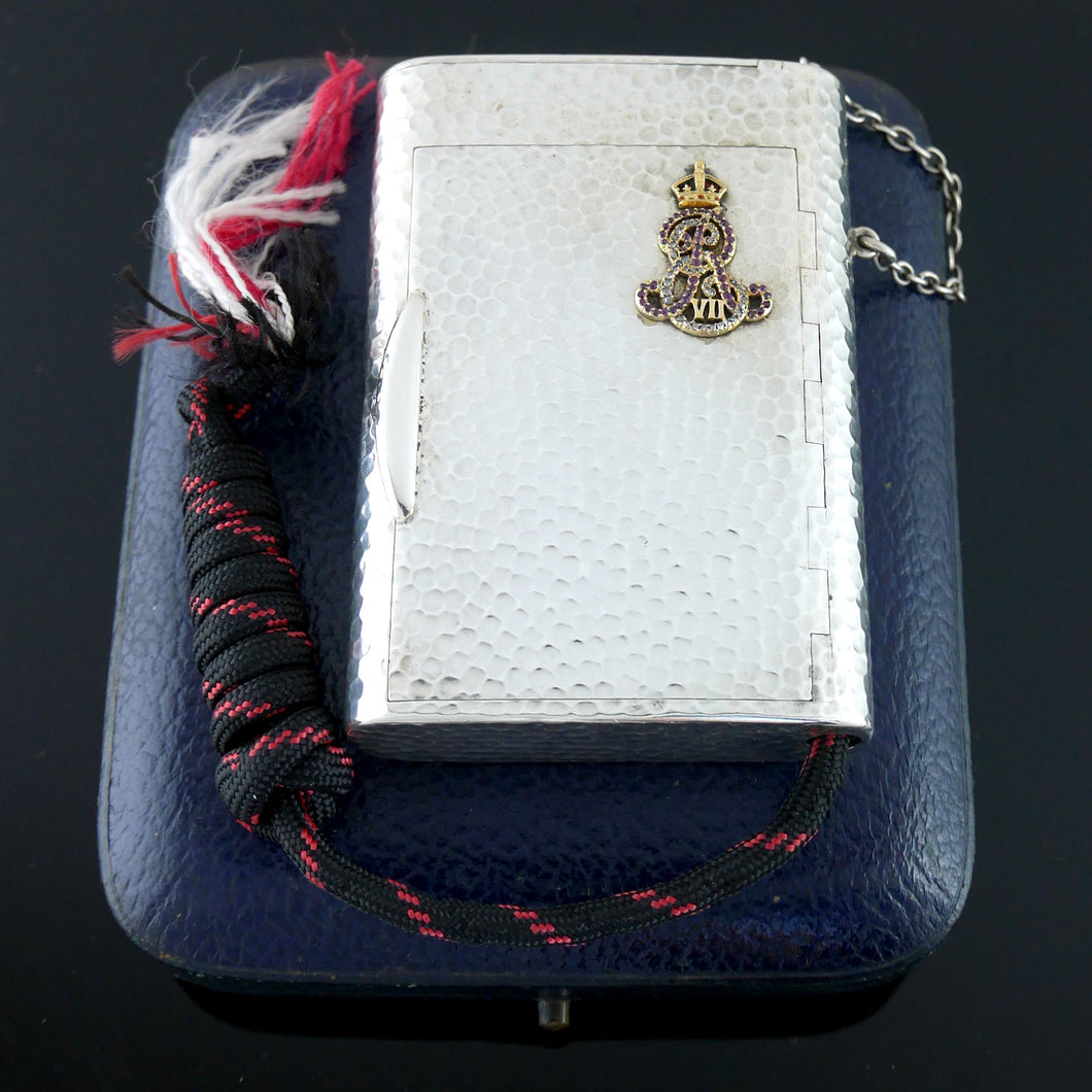 A Edward VII Royal Presentation Russian Style Silver Cigarette Case, 1904