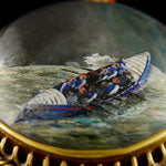 Load image into Gallery viewer, Royal National Lifeboat Institution - A Presentation Reverse Crystal Intaglio, 1882
