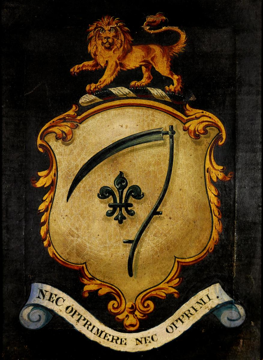 A George IV Armorial Panel of the Sneyd Family of Keele Hall, 1829