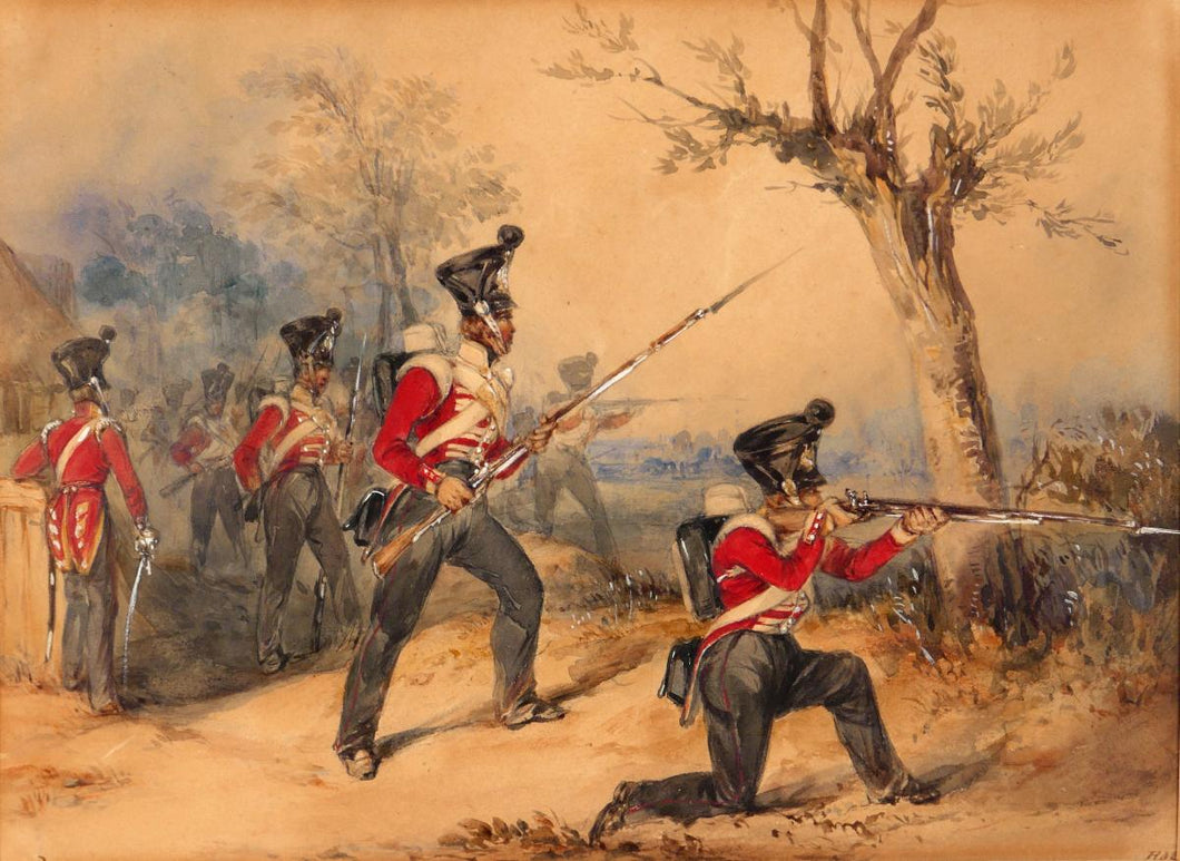 Skirmishers of the 52nd Oxfordshire Light Infantry - Henry Martens, 1853