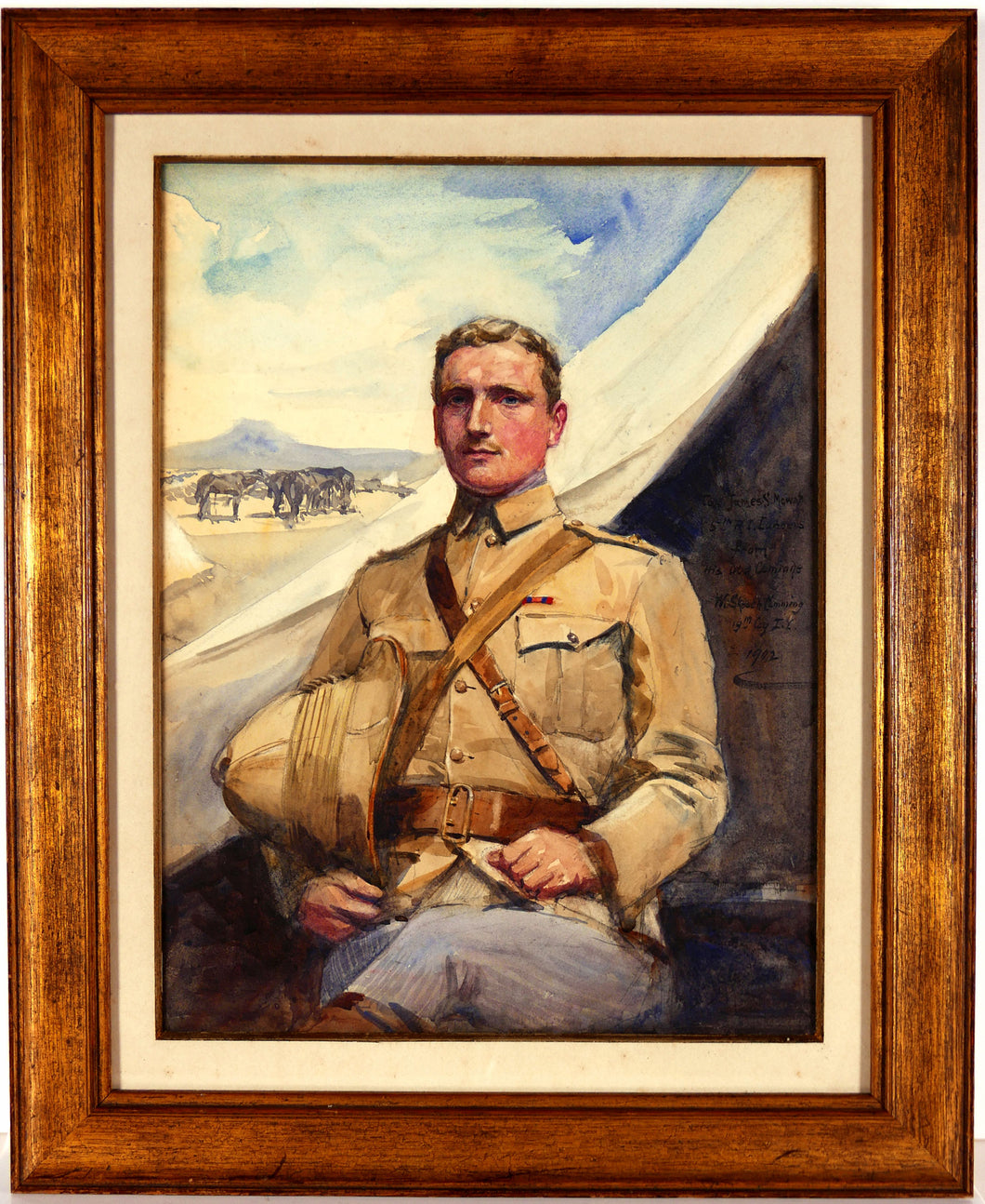 Portrait of Second Lieutenant J.S. Mowat, 5th Royal Irish Lancers, late Imperial Yeomanry, 1902
