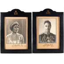 Load image into Gallery viewer, George VI and Queen Elizabeth - A Pair of Royal Presentation Portrait Photographs, 1943