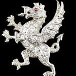 Load image into Gallery viewer, The Royal Welsh Fusiliers Brooch