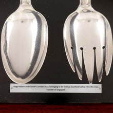 Load image into Gallery viewer, Singapore - Sir Stamford Raffles' Crested Silver Servers, 1824