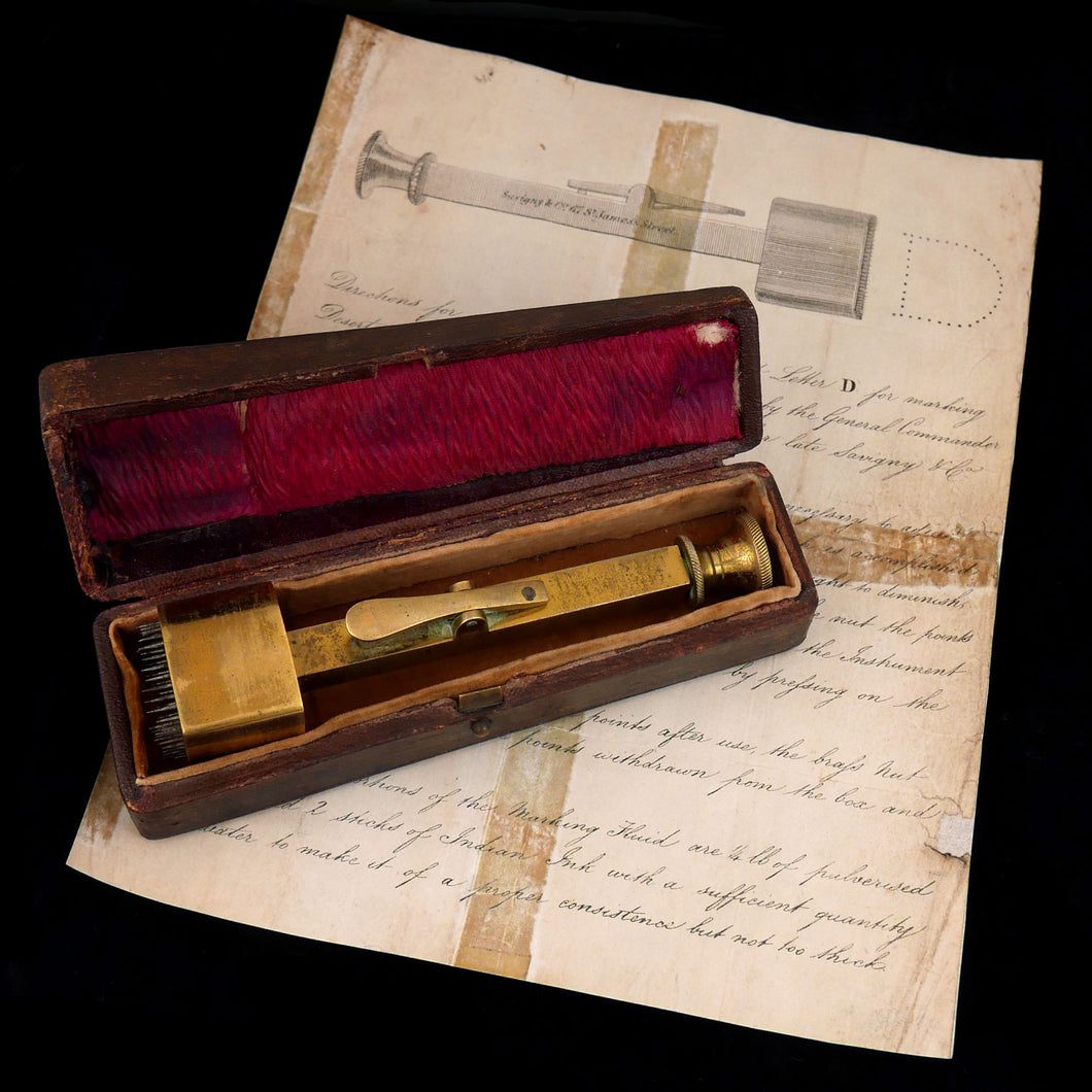 A Military Deserter Marking Instrument, 1842