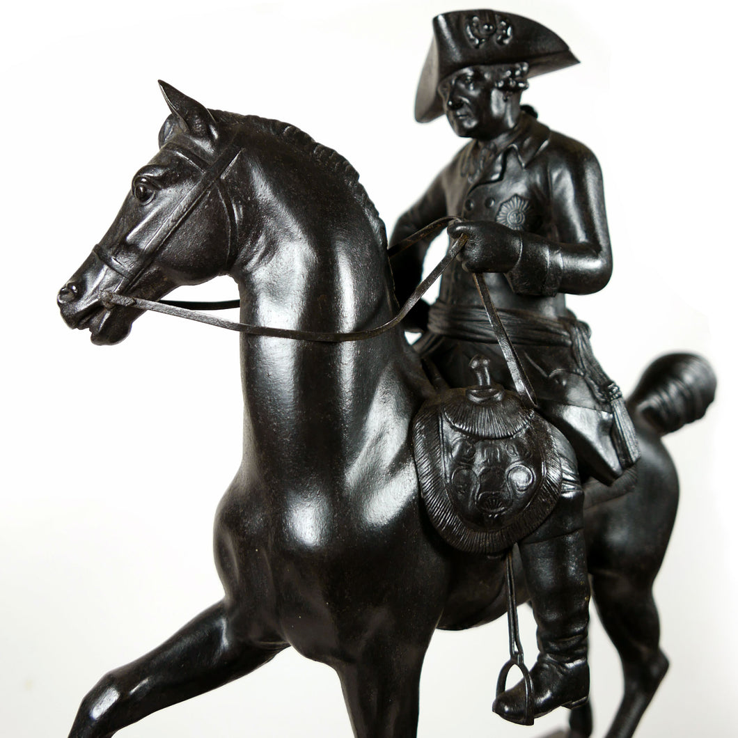 A Berlin Ironware Equestrian Figure of Frederick the Great of Prussia, 1820