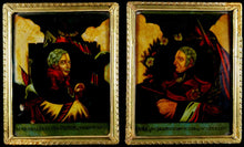 Load image into Gallery viewer, Victors of Waterloo - A Pair of Regency Reverse Glass Painting, 1815