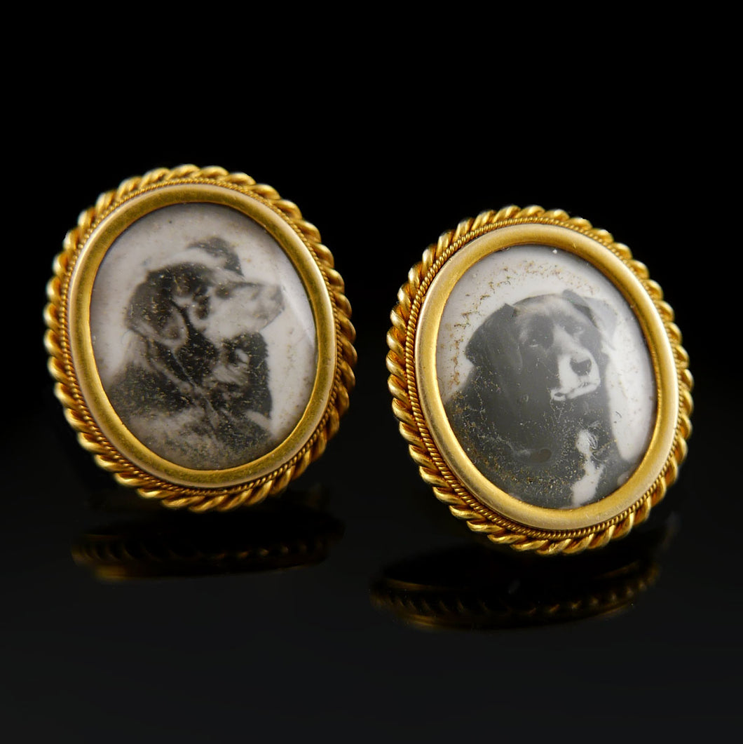 Personal Gift of Queen Victoria (1837-1901) - A Pair of Dress Studs, 1874