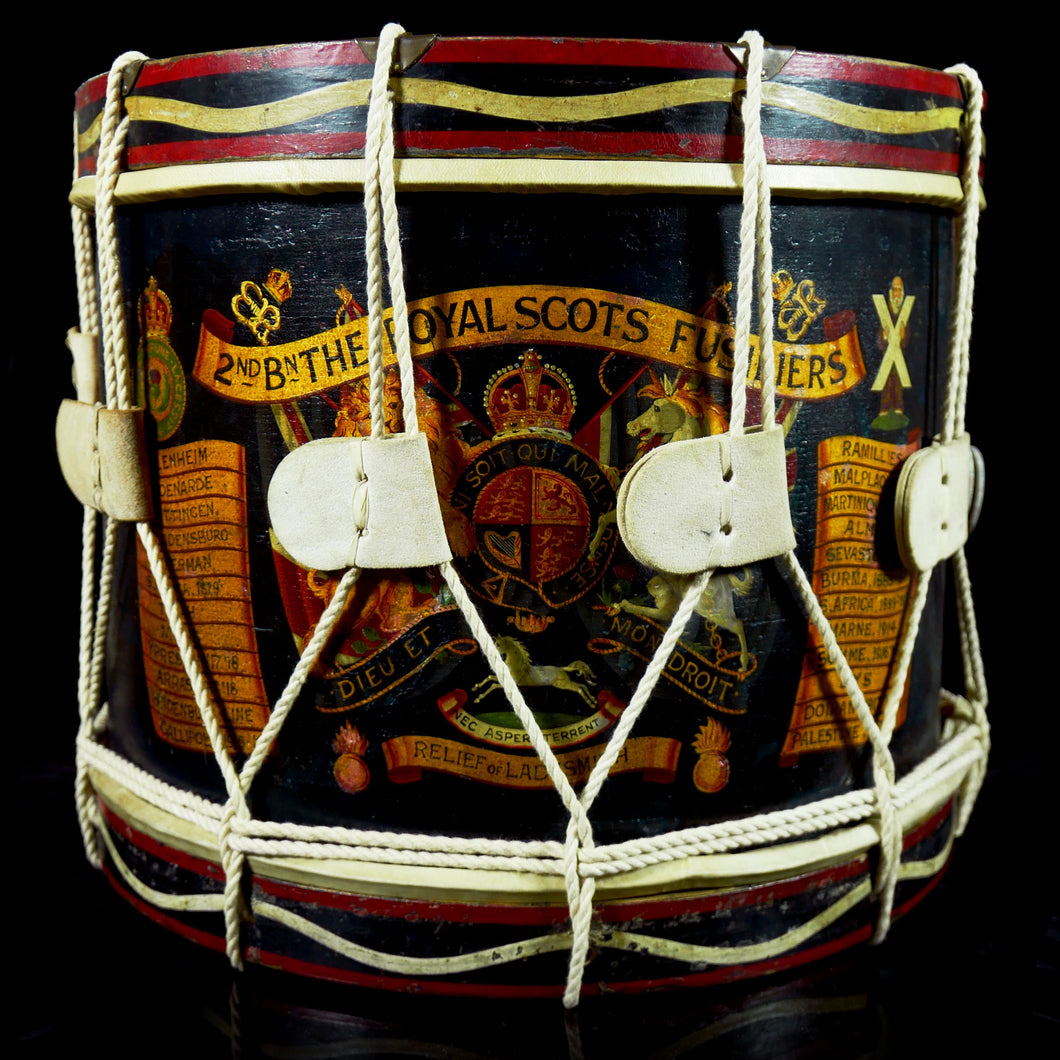 2nd Bn The Royal Scots Fusiliers - Edward VIII Tenor Drum, 1935