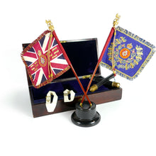Load image into Gallery viewer, The Royal Sussex Regiment - A Presentation Miniature Stand of Colours, 1924