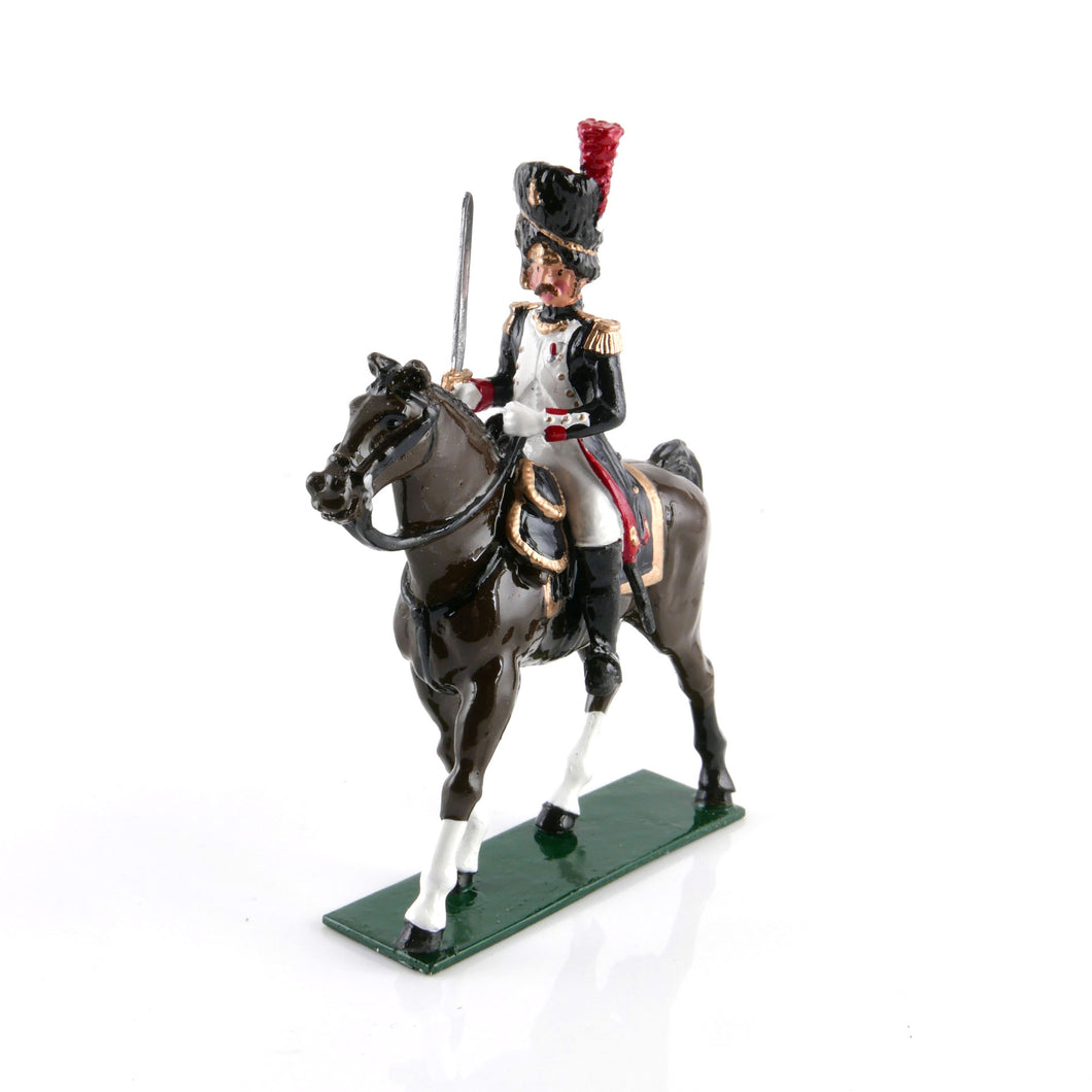 Mounted Officer, French Grenadiers of the Guard, 1815