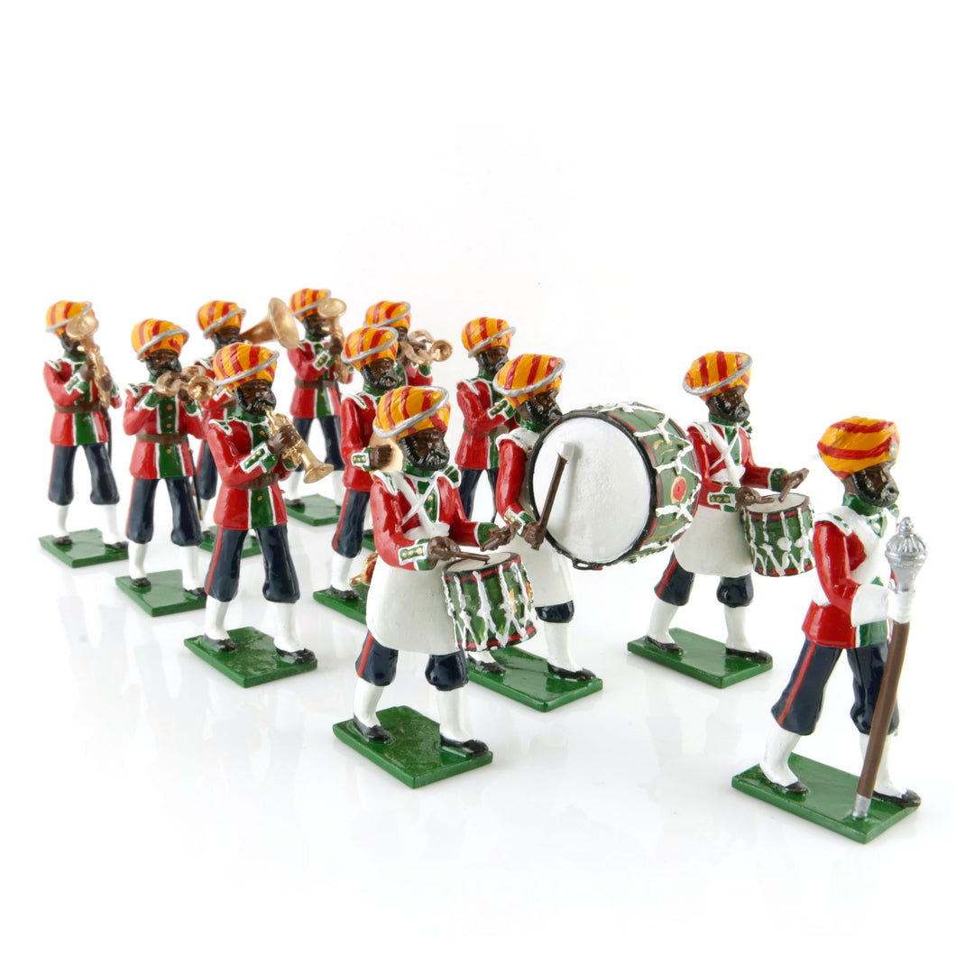 15th Bengal Infantry (Ludhiana Sikhs) Marching Band, 1900