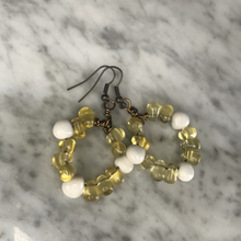 Load image into Gallery viewer, Citrine & Howlite hoop earrings