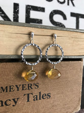 Load image into Gallery viewer, Faceted citrine dew drop earrings