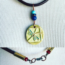 Load image into Gallery viewer, Dragonfly ceramic pandant bullet necklace