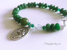 Load image into Gallery viewer, Saint Christopher Relic Gemstone bracelet