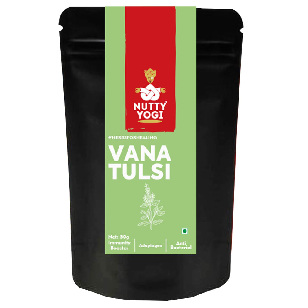 Vana Tulsi (Holy Basil)  Dried Leaves 50 gm.