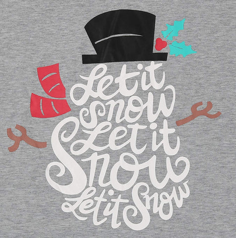 Let It Snow Christmas Shirt Women Cute Christmas Snowman Graphic Tee