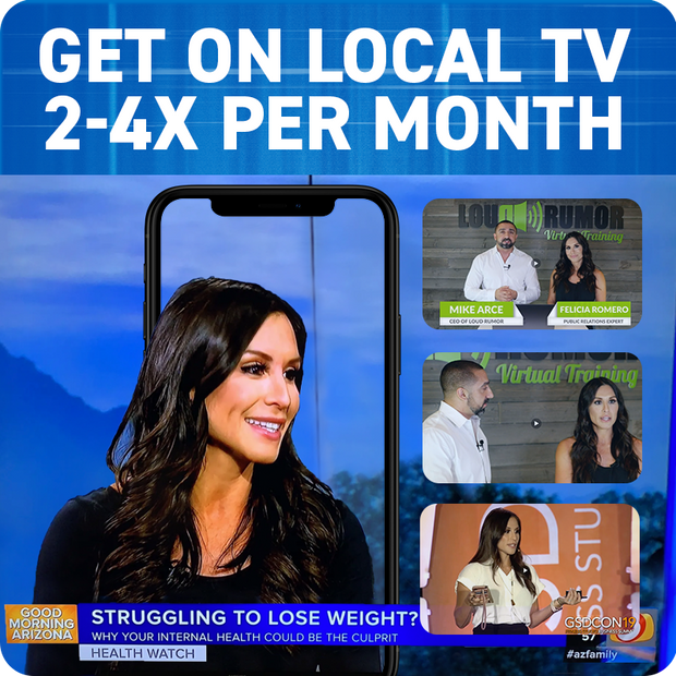 Get on Local TV 2-4X Per Month