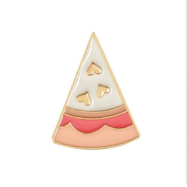 Love Cheese Pizza Metal Brooch