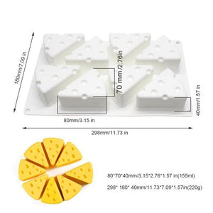 Open image in slideshow, 3D Cheese Silicone Mold Dessert Cheese Shape Silicone