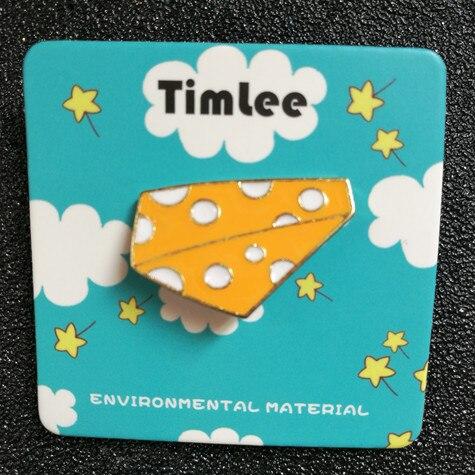 Cartoon Cute Yellow Cheese Metal Brooch
