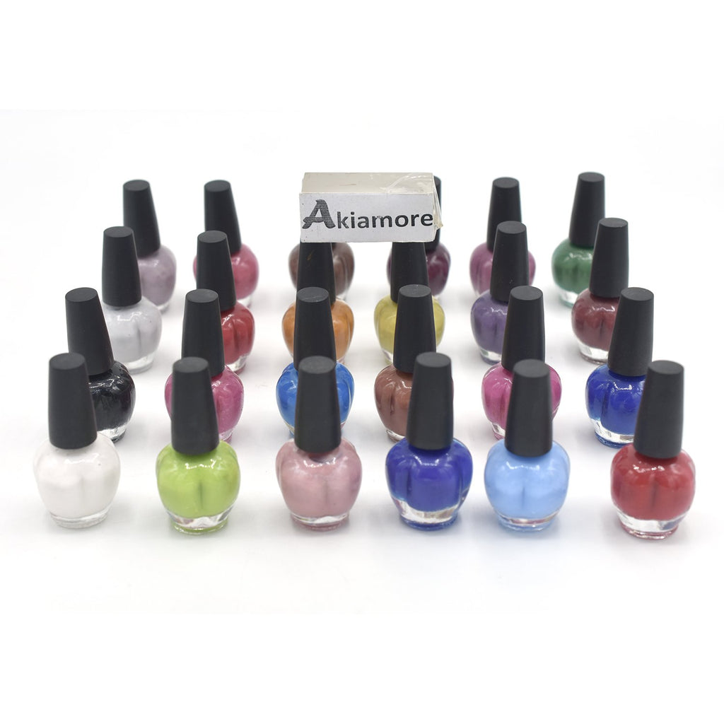 Nail Polish Multi colours Permanent Varnishes Pure Color Need Base top Manicure Paint Nails Polish