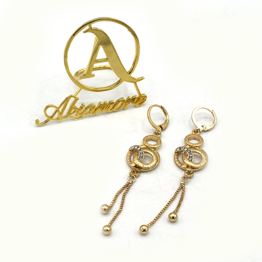 Fashion Jewelry Zirconia Earrings Charm Drop Earrings Women Gold Dangle Earrings