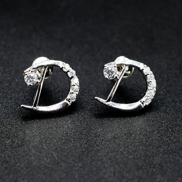 1 pair 2021 New Classic Letter D-shaped Earrings For Woman Fashion Korean Jewelry egfrsrb5h-e