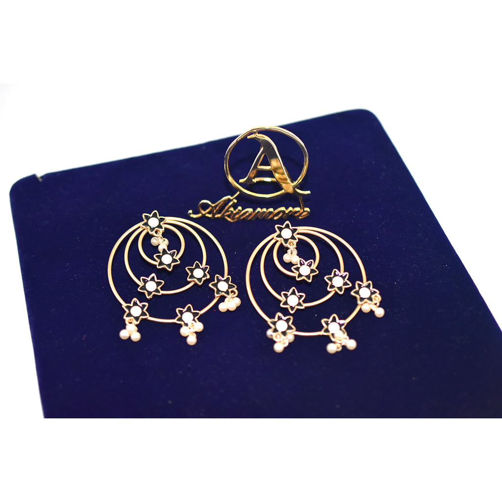 2021 Latest Fashion Jewelry bali Vintage Gold Big Hoop Earrings With Charm Lady's Street Style Statement Earring