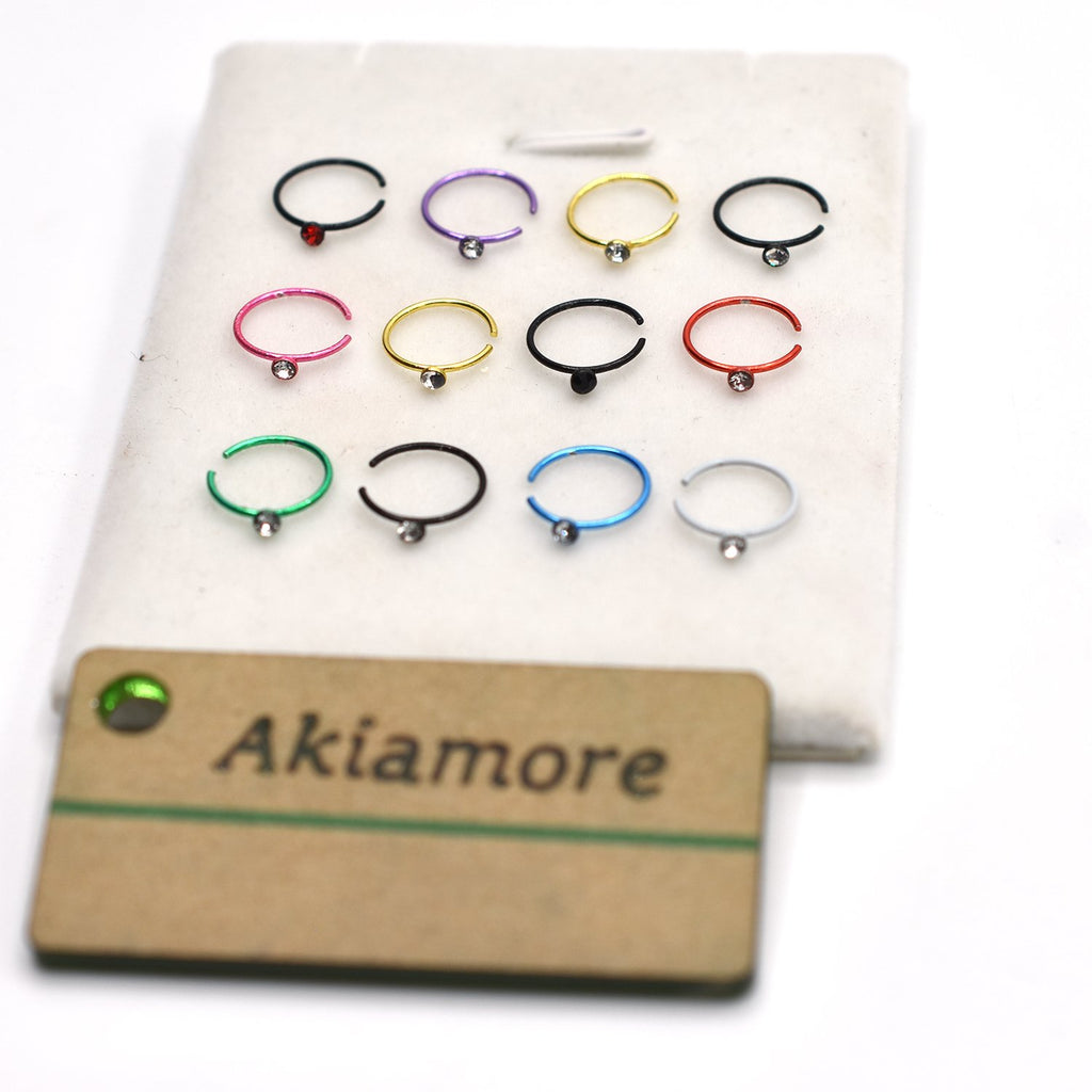 PACK OF 12 NOSE RING
